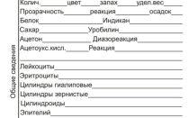Бланк направления на общий анализ мочи (ОАМ)