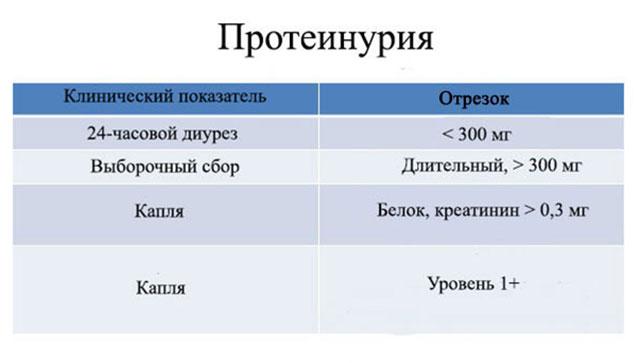 Таблица содержания протеина